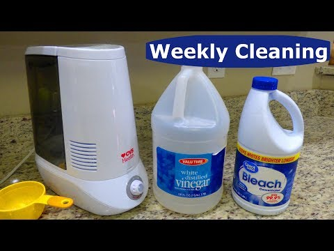 Weekly Cleaning: How to Disinfect and Descale CVS Health Warm Mist Humidifier Vinegar Instructions