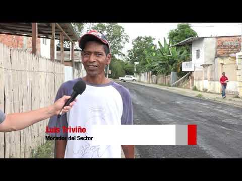 Microinformativo Yo Soy de Chone - Asfaltado en calle José María Solórzano