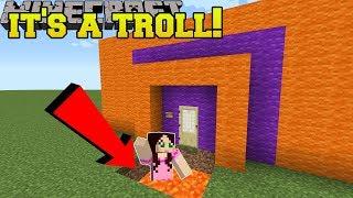Minecraft: THIS HOUSE IS A TROLL!! - Halloween Theme Park - Custom Map