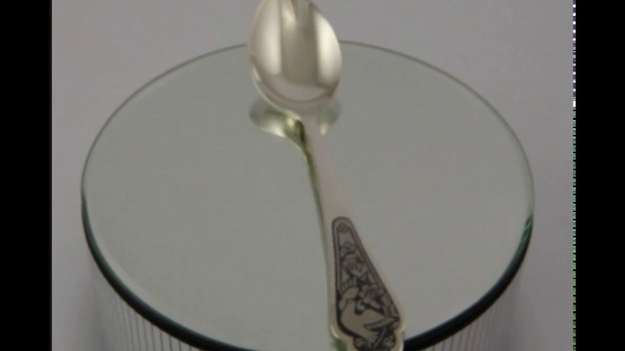 Серебряная ложка столовая «Престиж» - YouTube