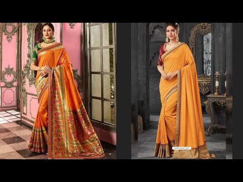 Mustard Color Traditional Saree Designs 2019 | Indian Fashion 2019