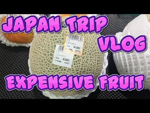 Japan Trip Day 1 - How much would you pay for ONE fruit?