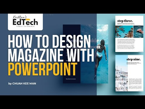 How to make a magazine using microsoft word?