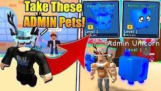 OWNER GAVE ME 2 ADMIN LEGENDARY PETS IN BUBBLE GUM SIMULATOR! (Roblox)