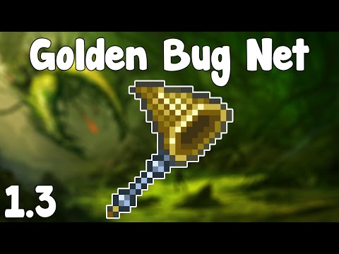 Terraria 1.3 - Golden Bug Net , INFINITE BAIT FARM + GOLDEN BUGS! - Terraria 1.3 Guide New Bug Net!