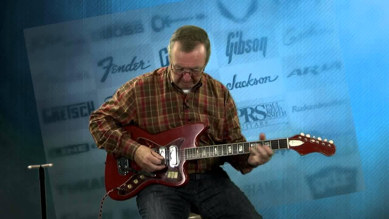 Electric Guitars - RARE 1966 Silvertone Guitar DeArmond Silverfoil ...