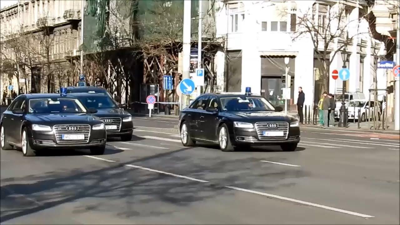 2015 Budapest Hungary Motorcade Of Angela Merkel