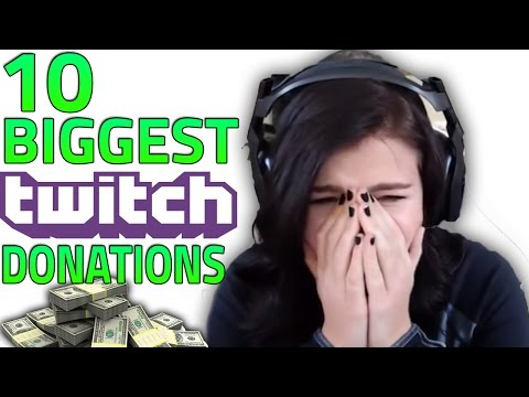 Top 10 BIGGEST Twitch Donations & Funny Reactions