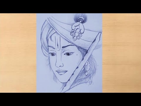 Pencil Drawing Of Lord Krishna Step By Step Lord Radha Krishna Artistica Janmashtami Drawing Youtube