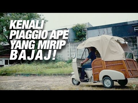 Piaggio APE Bukan Bajaj Roda Tiga