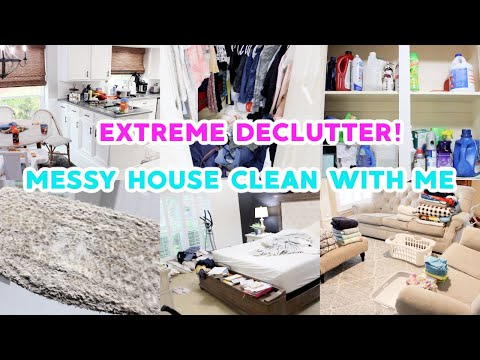 *EXTREME* CLEAN & DECLUTTER WITH ME 2021! ALL DAY SPEED CLEANING MOTIVATION! ACTUALLY MESSY HOUSE! - Madison Hopper Cleaning