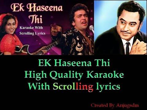 Ek Haseena Thi || KARZ 1980 || Karaoke with Scrolling lyrics (High Quality)
