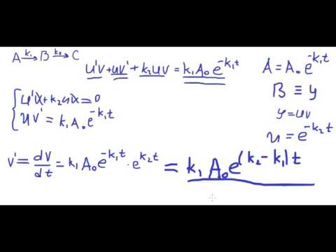 Физическая химия #4. Кинетика сложных реакций. Последовательные реакции
