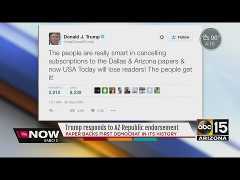 Trump goes on Twitter rant striking against The Arizona Republic