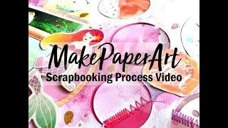 Using Older Supplies Scrapbooking Supplies #15 Chillin / Make Paper Art