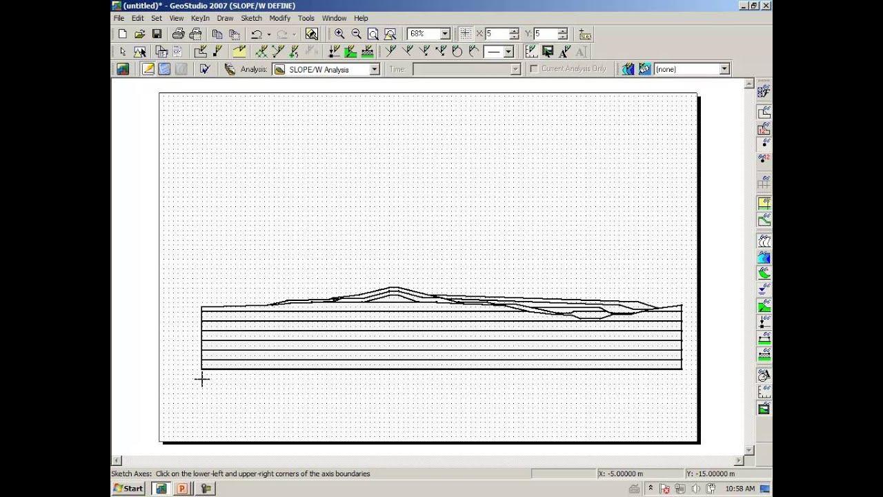 YouTube GeoStudio 2007: Import DXF files
