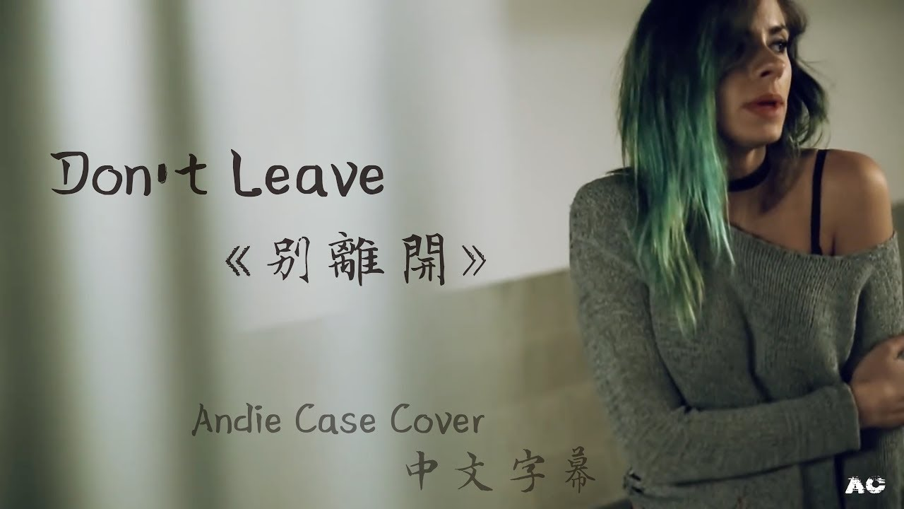 Don't Leave 別離開 -  Andie Case Cover 中文字幕 (Snakehips & MØ)