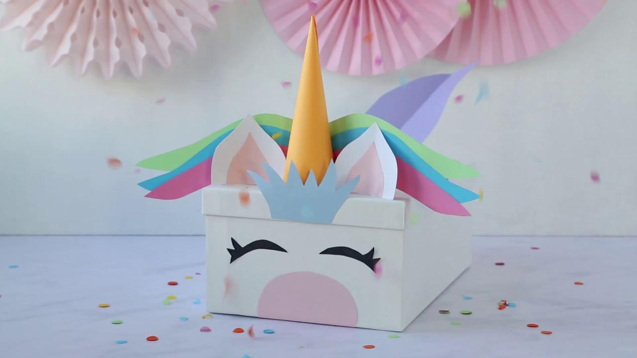 Unicorn Valentine S Card Box Idea Youtube