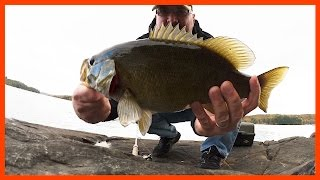 At the cottage, Fishing, Catches a Smallmouth Bass, Closing the Cottage - Ken