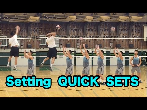 Setting QUICK SETS - How To SET A Volleyball Tutorial