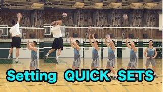 setting quick sets how to set a volleyball tutorial