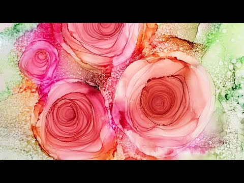 Alcohol Ink Infinity Palette Roses Tutorial (#9)