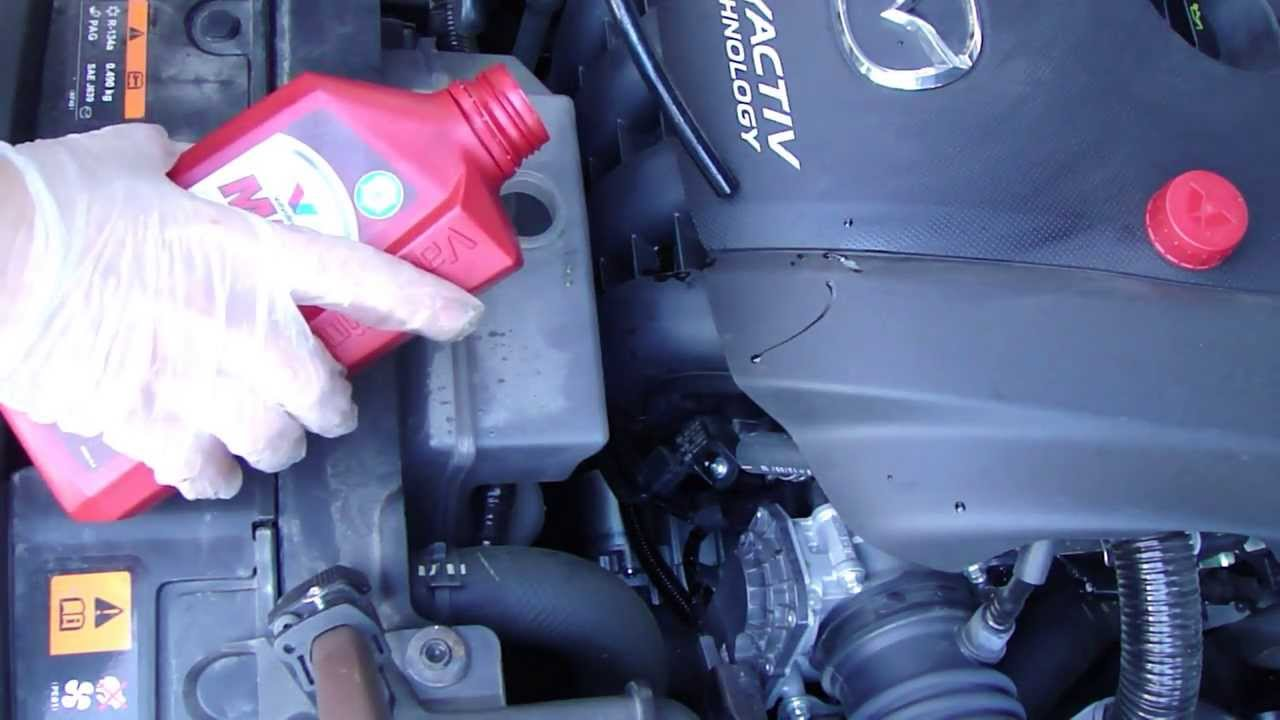 How to check coolant level Mazda 6. Years 2013 to 2019 ...