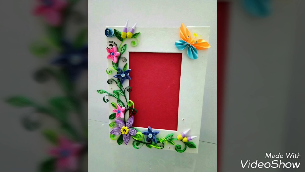 photo frame how to make paper quilled flowers steps rh youtube com