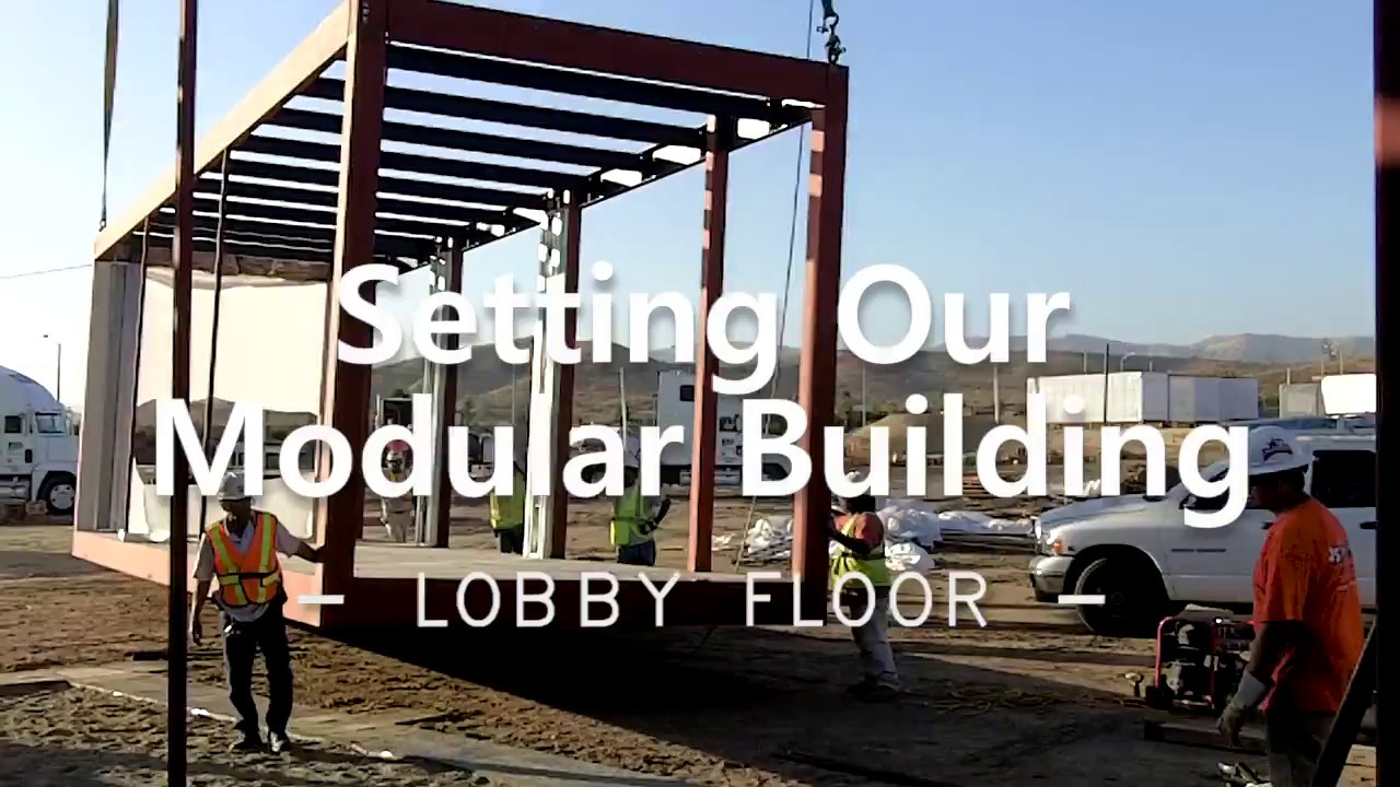 Safely Setting The First Floor Lobby Of A Modular Building   Design Space  Modular Buildings