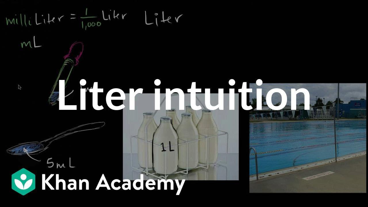 Understanding volume (liters) (video) | Khan Academy