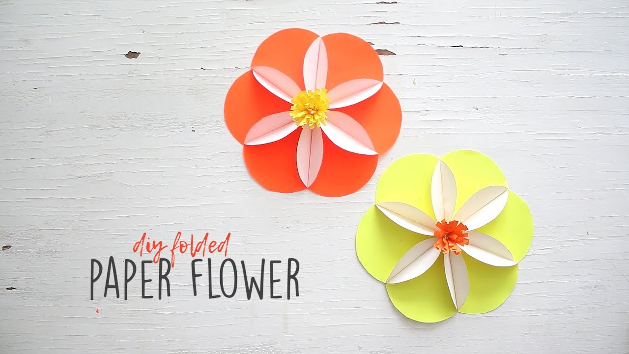 Diy Folded Paper Flower Youtube
