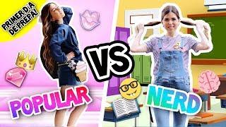 ¡POPULAR VS NERD! Natasha🎀 VS Emily📚: Primer Día de PREPARATORIA!!    Bianki Place ♡
