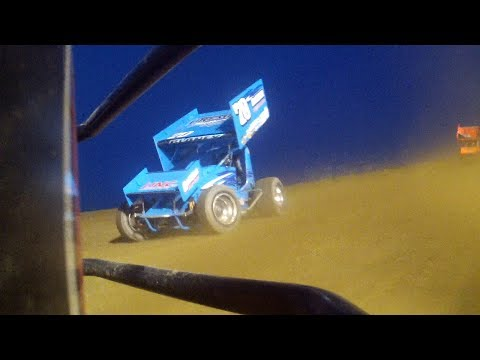 Cale Conley at Attica Raceway Park B Main Epic Battle with Dave Blaney