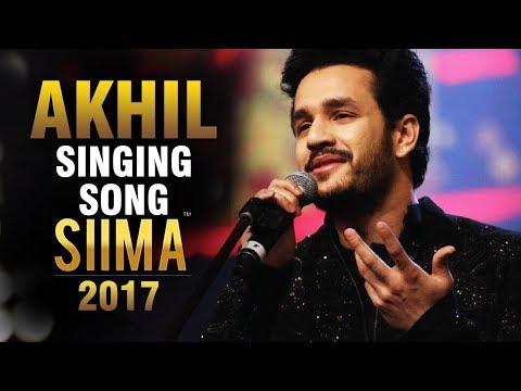 Akhil Akkineni SINGING Song At SIIMA Awards 2017   Akhil Performance   Nagarjuna