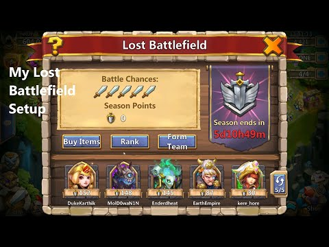 Castle Clash My Lost Battlefield Setup