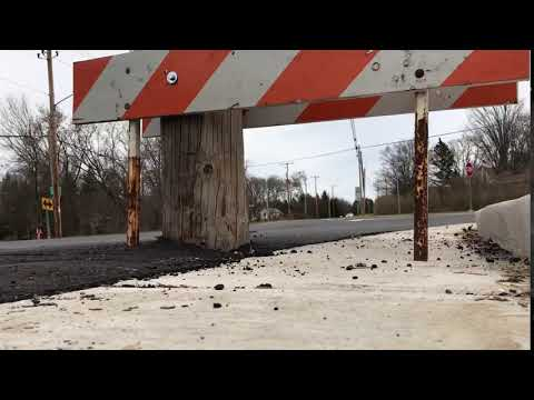 Construction mishap: AT&T telephone pole blocks part of newly-renovated Mt. Pleasant roadway