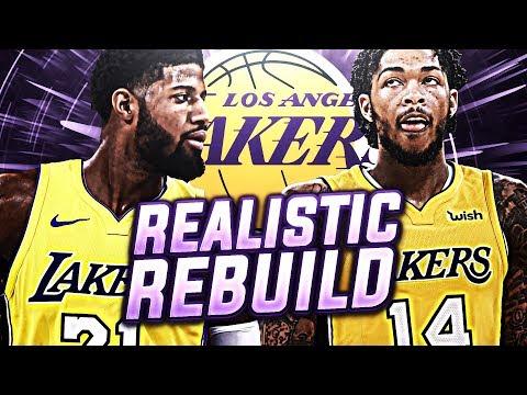 2 BIG SIGNINGS! REALISTIC LA LAKERS REBUILD! NBA 2K18