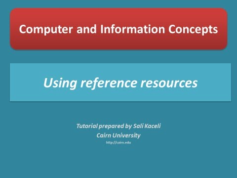 Using the Masland Library reference resources