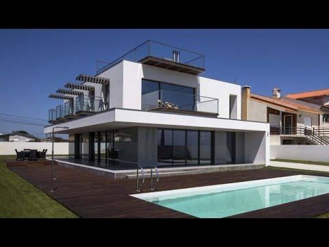 Planos de casa moderna de tres dormitorios youtube for Planos de casas con piscina