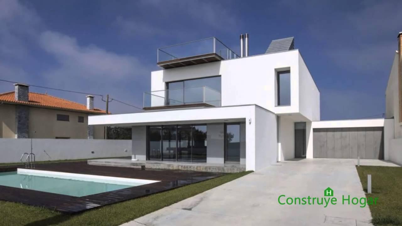 Planos de casa moderna de tres dormitorios youtube for Casa de dos plantas construyehogar