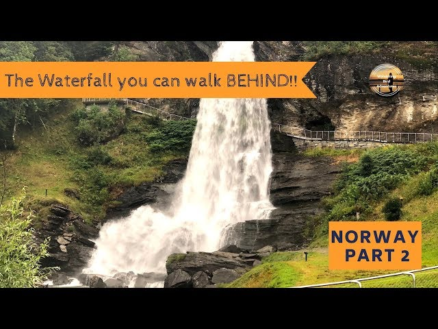 Steinsdalsfossen Waterfall- the waterfall you can walk BEHIND! Norway Motorhome Tour Part 2