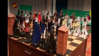 Boyacense crea un ajedrez con motivo del Bicentenario de Colombia
