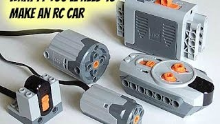 Lego power functions you'll need to make an rc car 100 subscribers special