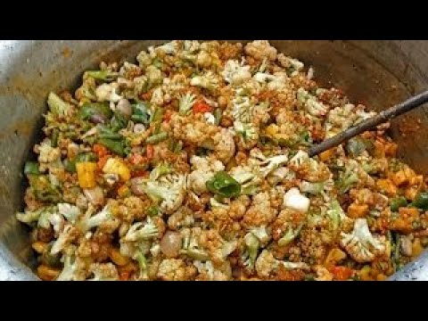 Mixed Vegetables (Sabzi) | Mix Veg Prepared For 100 People | Spicy Food | Indian Cooking R