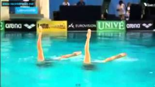 Синхронное плавание Россия Олимпиада 2012 Майкл Джексон