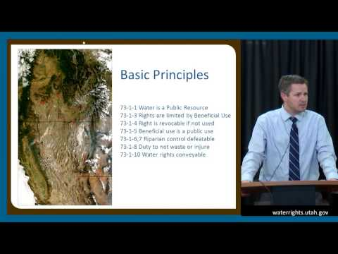 2017.15 - Riparian Rights and the West / What is a Water Right and Why Do We Have Them (James Greer)