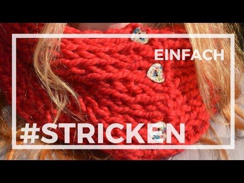 Einfachen Schal oder Loop stricken, Kuschelschal #stricken