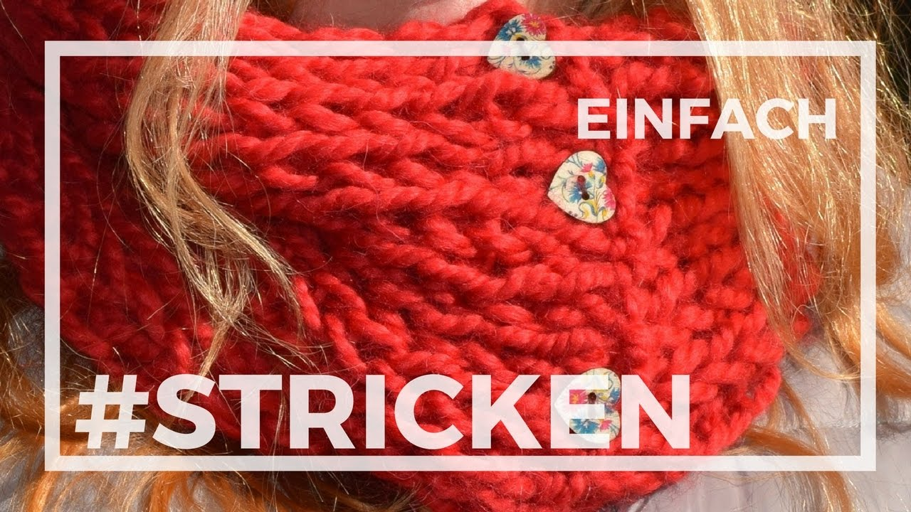 SUPER EINFACHEN Schal oder Loop stricken, Kuschelschal #stricken ...