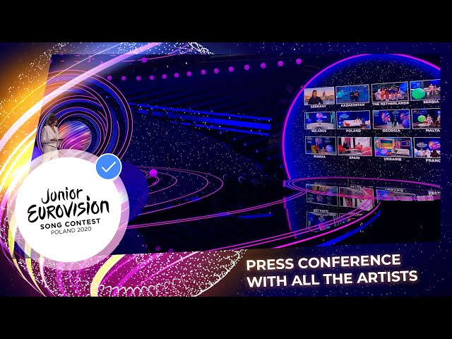 Press Conference with all participants of Junior Eurovision 2020