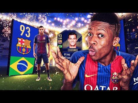 I GOT THE BARCELONA COUTINHO (THE RAREST CARD ON FIFA 18)